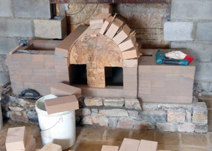 Masonry fireplace firebrick arch. - Masonry Stoves, Masonry Heaters And Masonry Fireplaces: Build Your